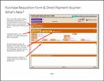 Purchase Requisition Form & Direct Payment Voucher